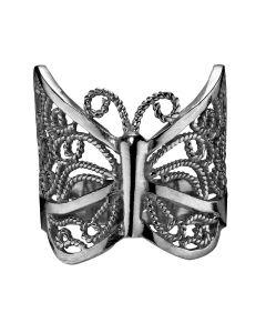 Carré, Sommerfugle Ring, Sort Sølv