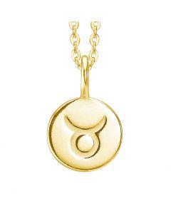 id fine, Zodiac Taurus Halskæde, Forgyldt